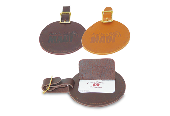 166 Round Leather Luggage Tag